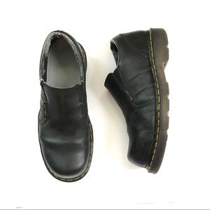 Dr martens men's black loafers US 9 steel toe